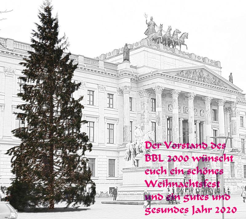 Der Vorstand des BBL 2000 wünscht euch ein schönes Weihnachtsfest und ein gutes und gesundes Jahr 2020